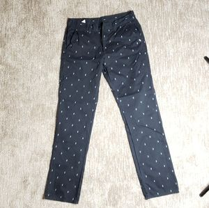 Black Work Pants with Snakes by Rebel8
